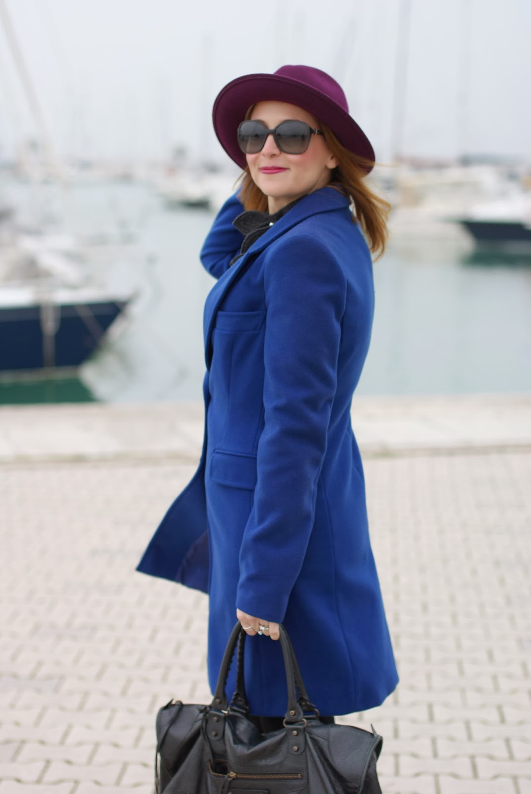 Paola Frani cappotto, cobalt blue coat, Ecua-Andino hat, Fashion and Cookies, fashion blogger