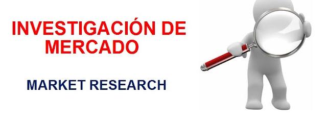 La investigación de mercado-market research