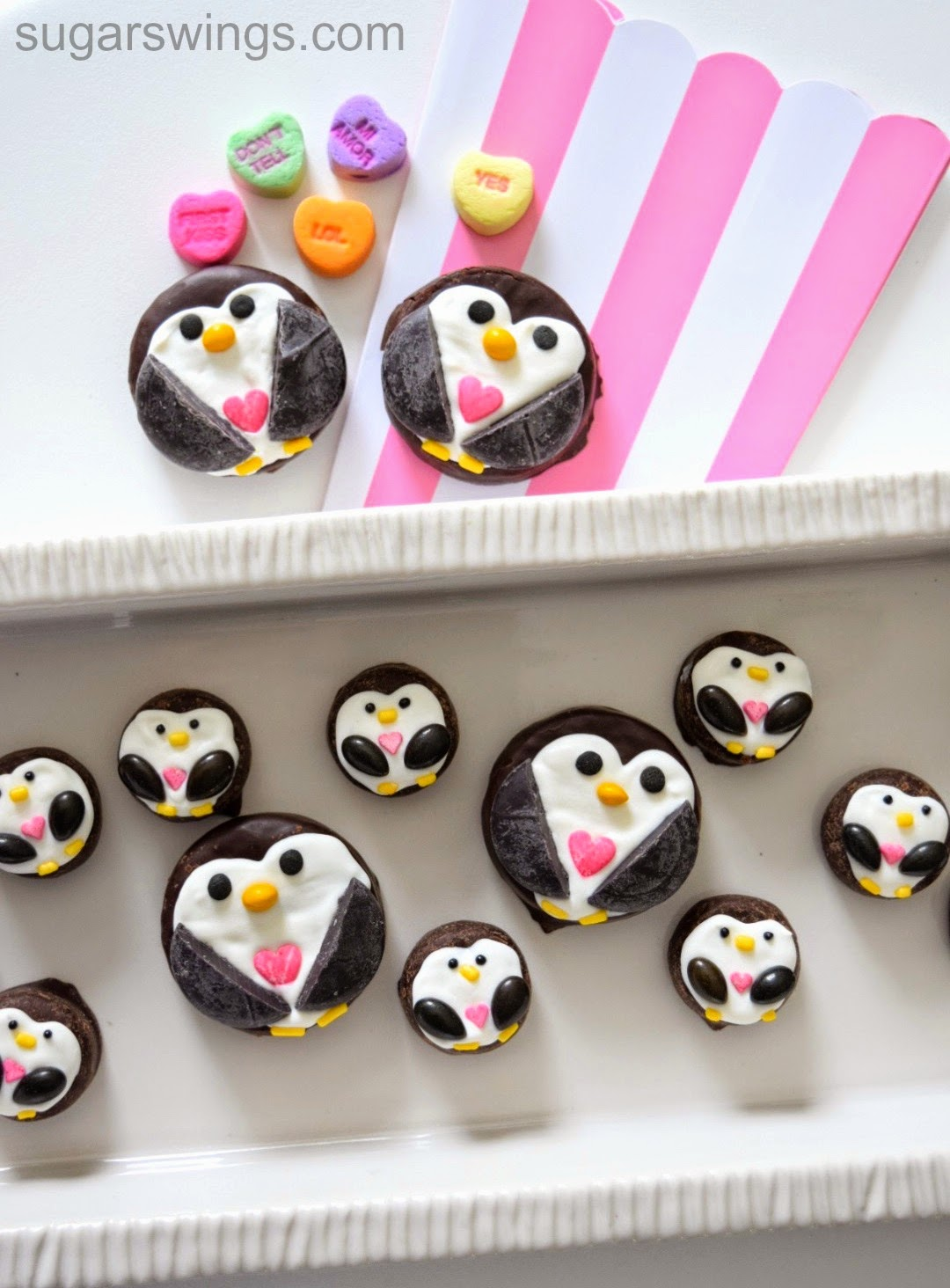sugar swings serve some penguin valentines day candies