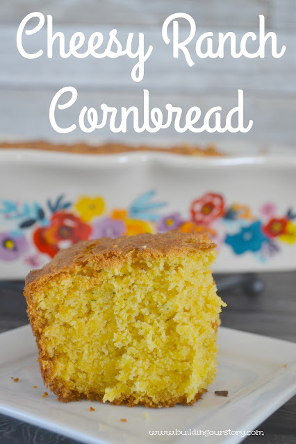 Cheesy Ranch Cornbread Recipe, cornbread recipes, easy cornbread recipe, cheesy ranch cornbread, cheesy cornbread recipe, side dishes