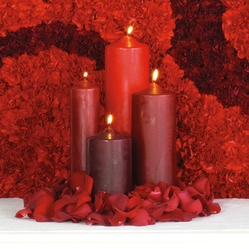 Wedding Altar With Candles: Wedding Bouquets, Florist Bouquets: Centerpieces And