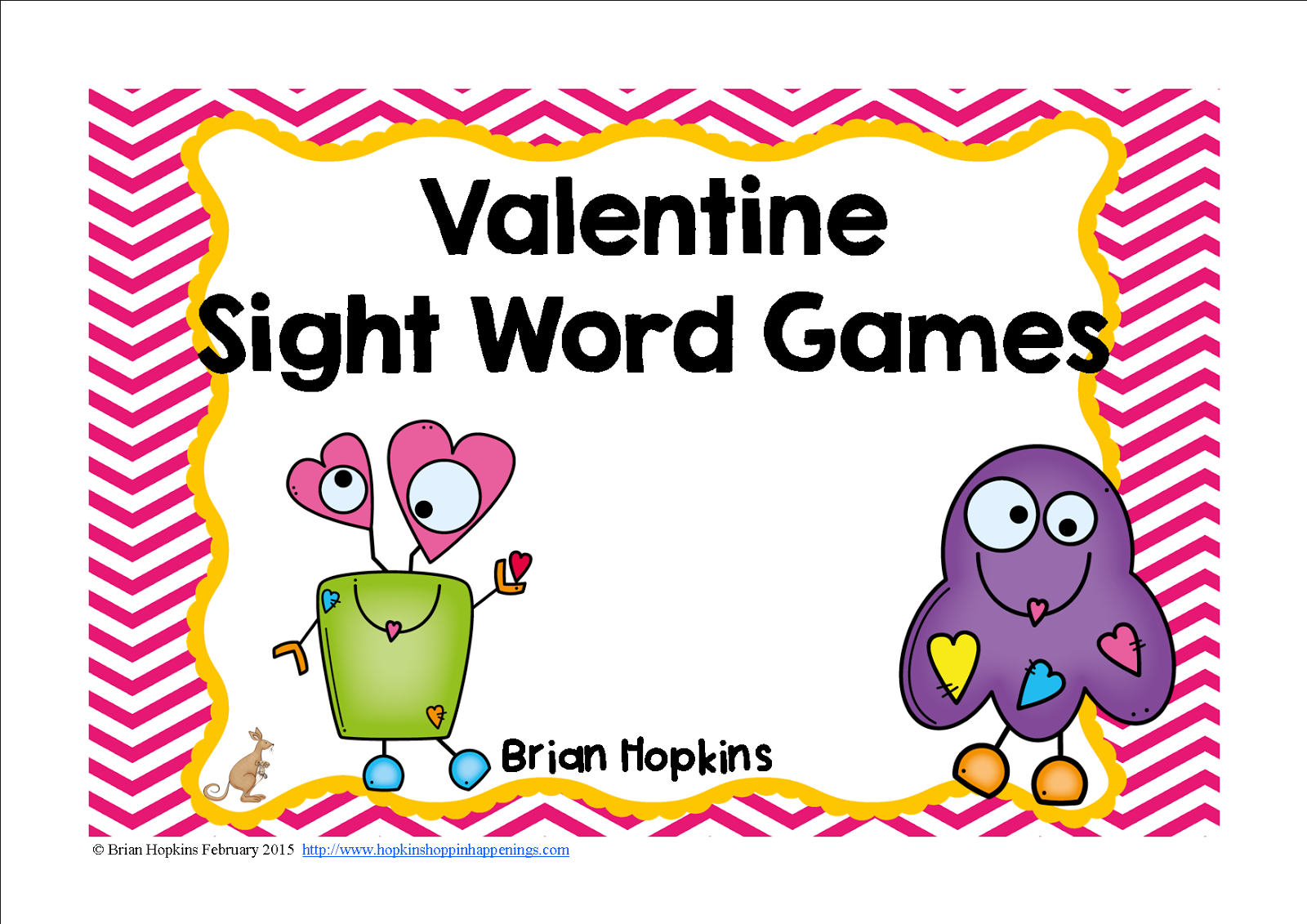 https://www.teacherspayteachers.com/Product/Valentine-Monster-Sight-Word-Games-1691660