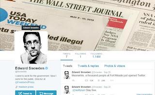 Edward Snowden joins Twitter and follows NSA : 1 million followers on twitter
