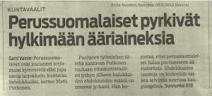 ESS 30.9.2012, etusivu