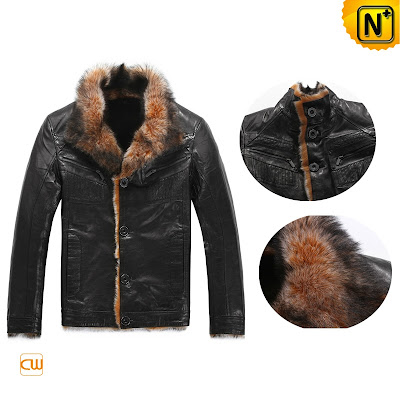 Black Goatskin Fur Jacket