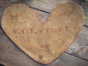Be My Valentine 1861 Heart Sampler