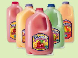 Tampico flavored drinks in gallon containers 5 different flavors