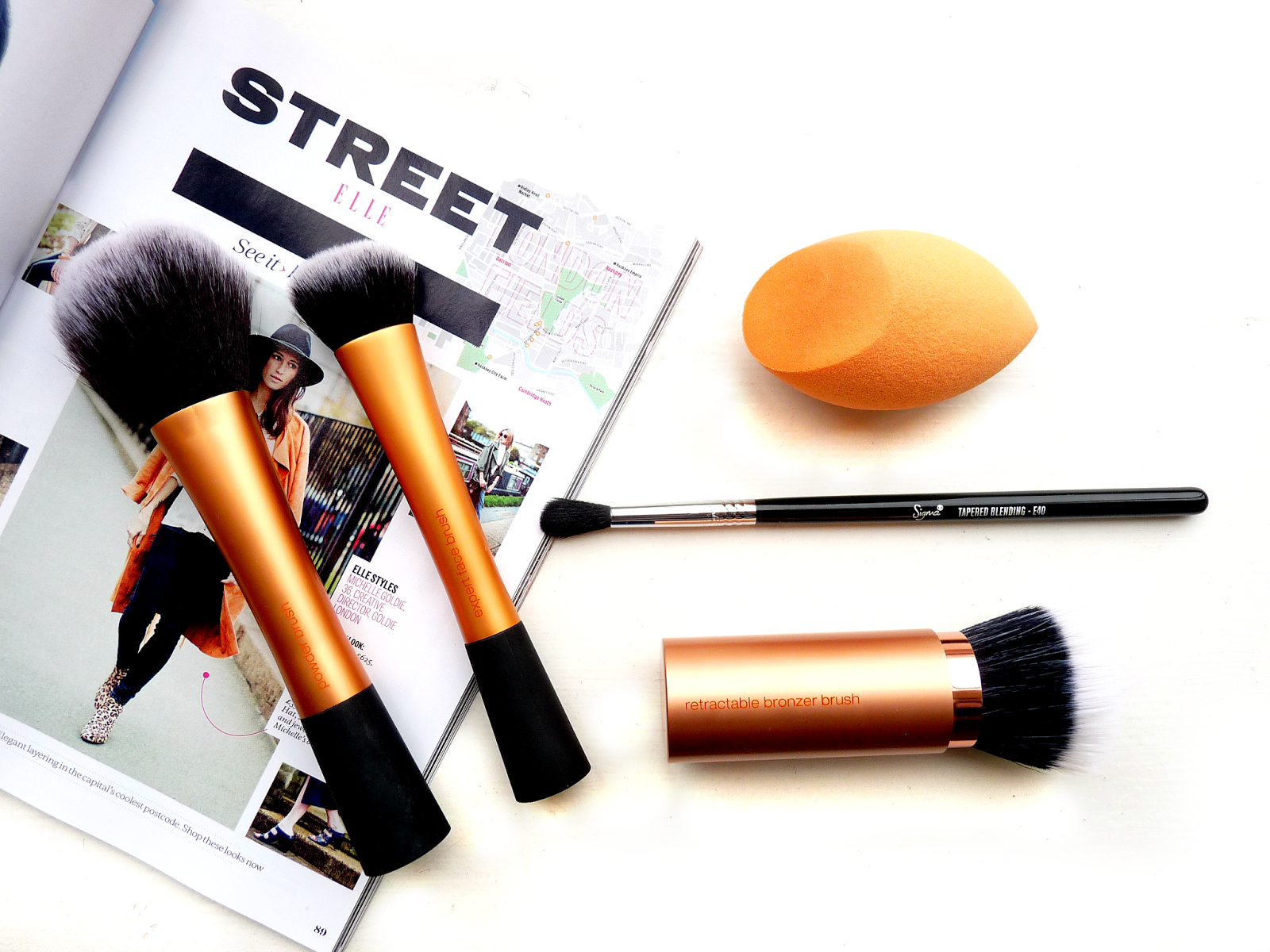 real techniques sigma beauty makeup brush review powder brush face brush bronzer tapered eye brush