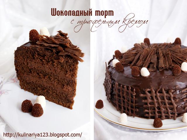 431 шоколадный торт с трюфельным