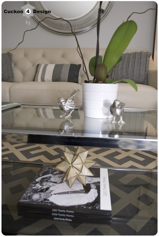 grey smoked glass coffee table
