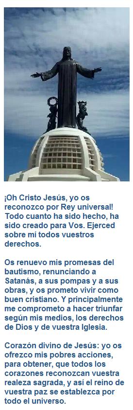 RECONOCIMIENTO DE LA REALEZA SOCIAL DE CRISTO DIOS