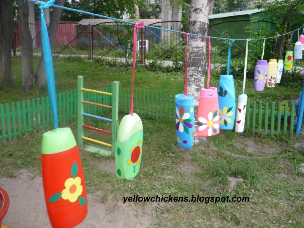 Украшение на участок детского сада своими руками