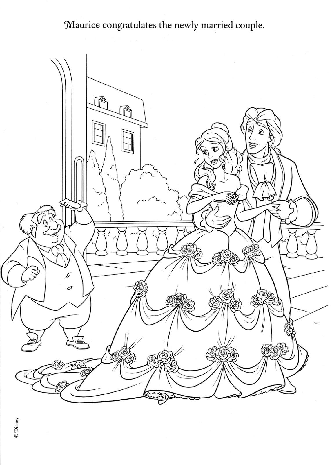 La Bella y la Bestia de Disney - Blog: Dibujos para colorear de la boda