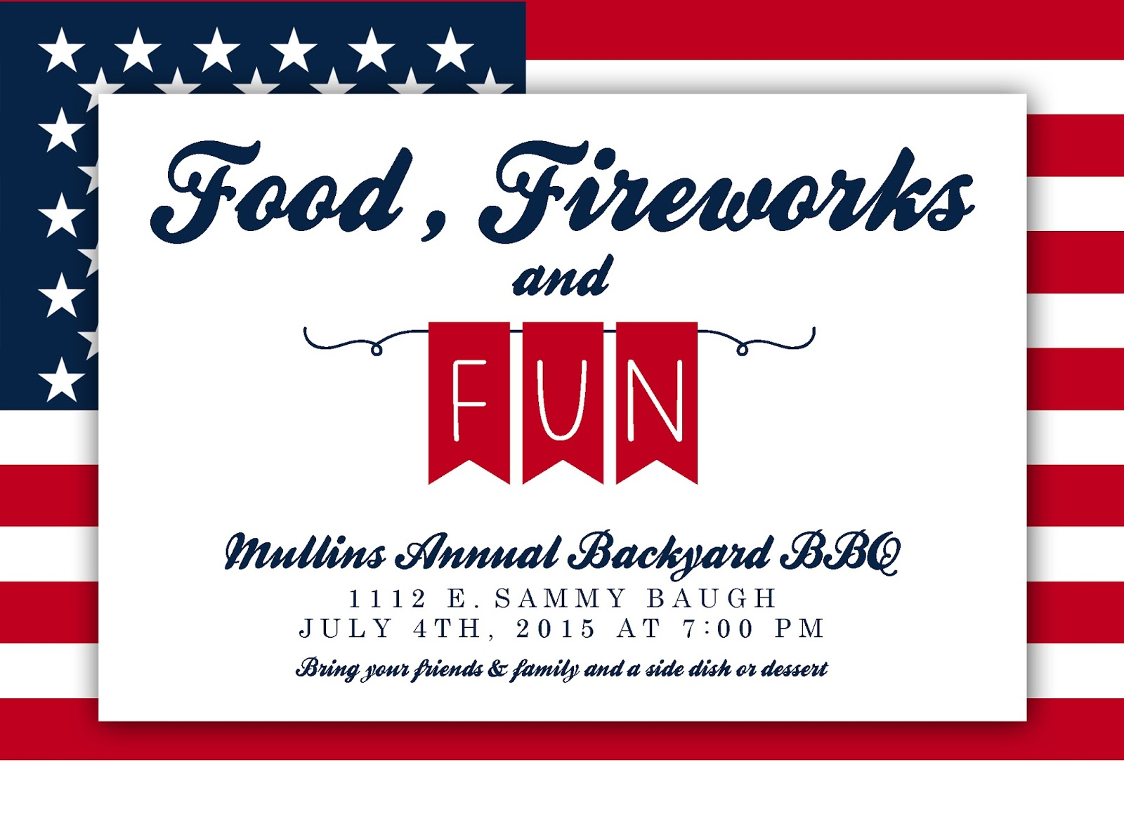 You\'re Invited!: 4th of July party invitation