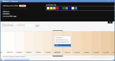 Контекстное меню при клике правой кнопкой мыши по выбранному в палитре цвету