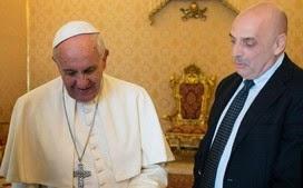 Paolo Brosio rencontre le Pape François.9 avril 2015