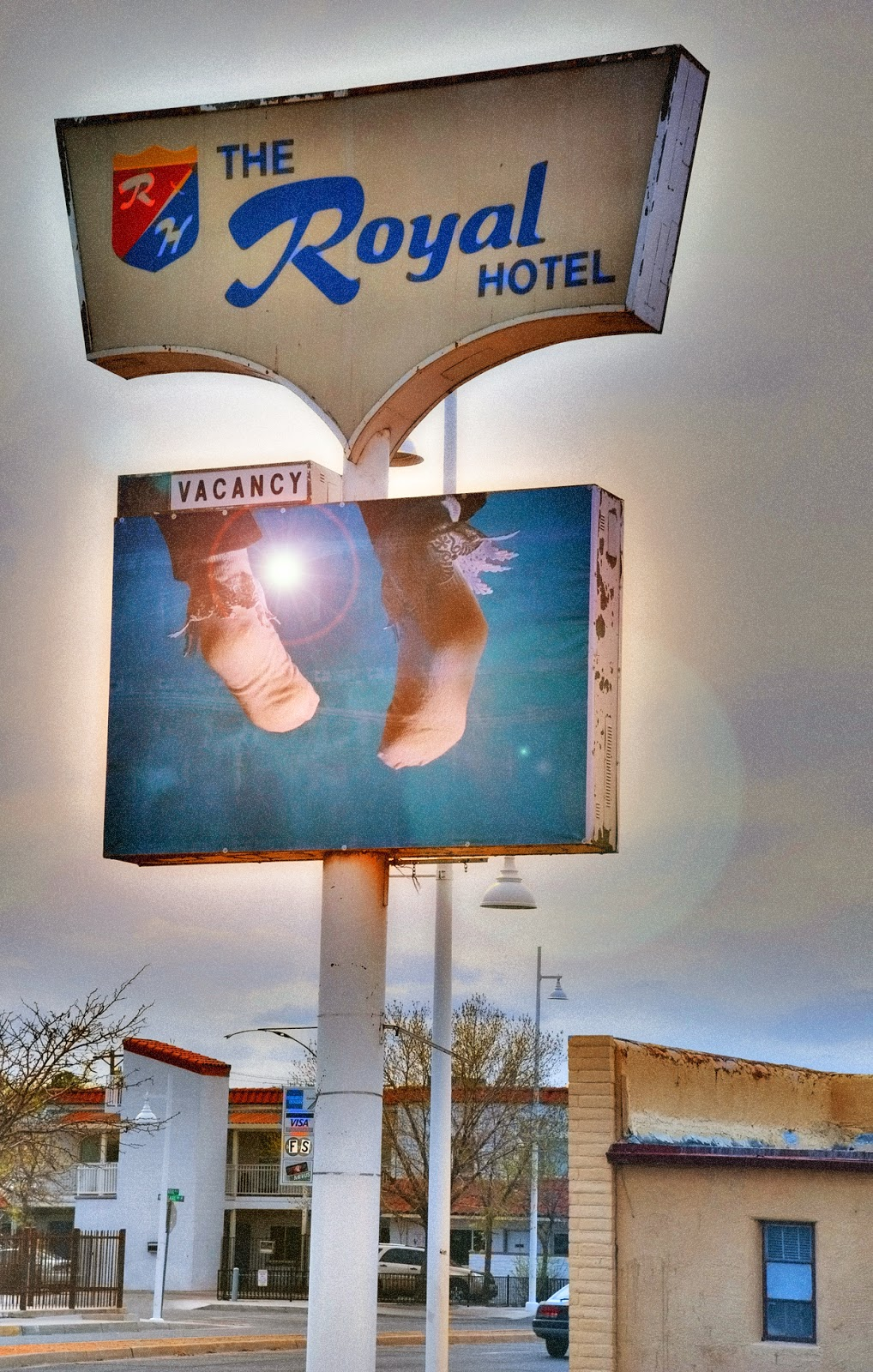 heidi utz, heidi utz photography, royal hotel albuquerque, route 66 signs, route 66 photos, albuquerque photos, orphan signs albuquerque