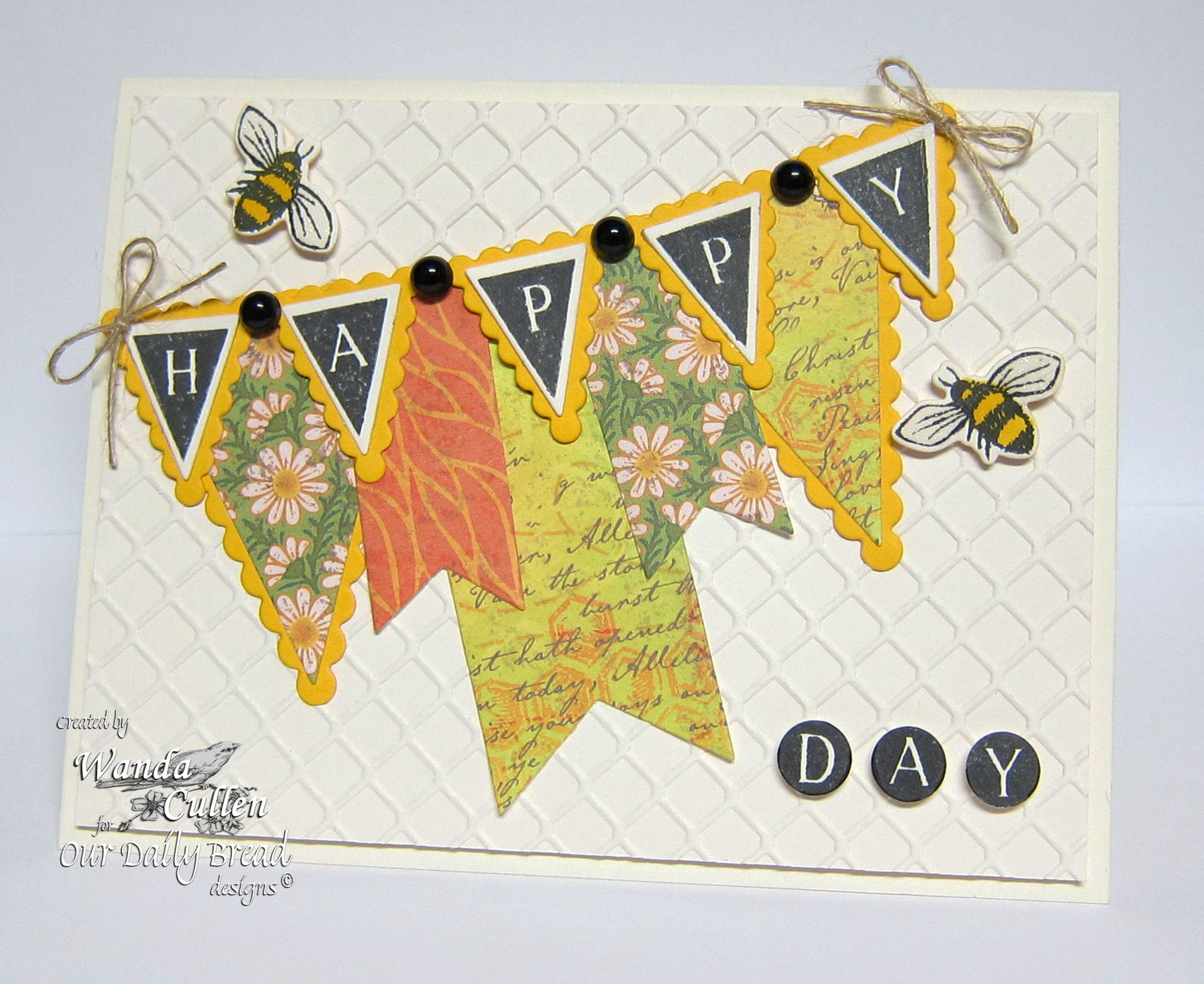 Stamps - Our Daily Bread Designs Pennant Alphabet Solid, Zinnia, ODBD Custom Pennants Die, ODBD Custom Zinnia and Leaves Die, Blooming Garden Paper Collection