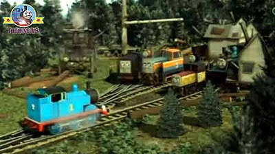 Thomas the train Bash and Dash Logging locos found two lofty and very good Christmas trees to adorn