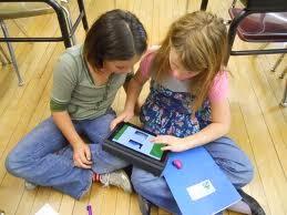 children using an iPad