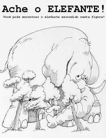 Ache o elefante!