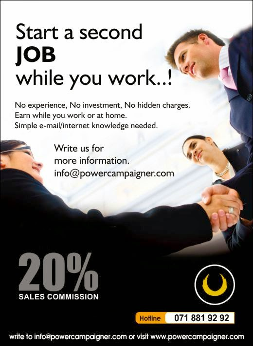 Start a second JOB while you work..!