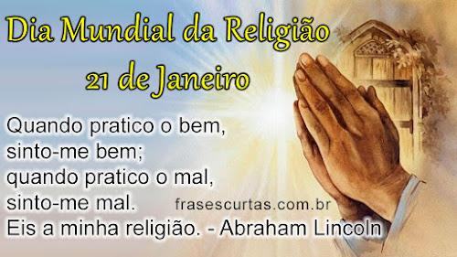 Frases para o Dia Mundial da Religião