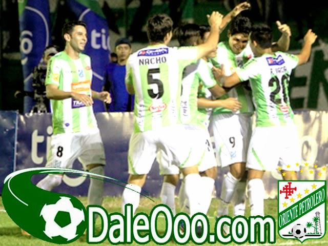 Oriente Petrolero - Festejo del gol de Estigarribia - DaleOoo.com sitio del Club Oriente Petrolero