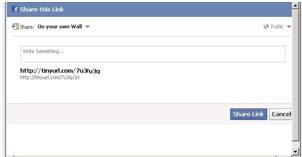 Facebook Sharer Popup Page