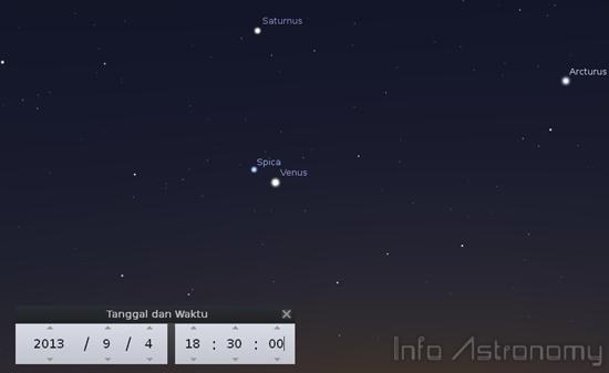 Bintang Spica Akan Mendekati Venus di Langit Senja