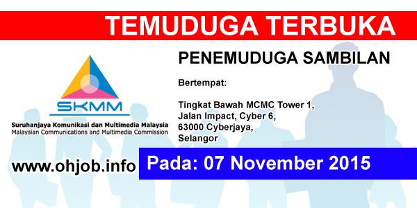 Jawatan Kerja Kosong Suruhanjaya Komunikasi dan Multimedia Malaysia (MCMC) logo www.ohjob.info november 2015