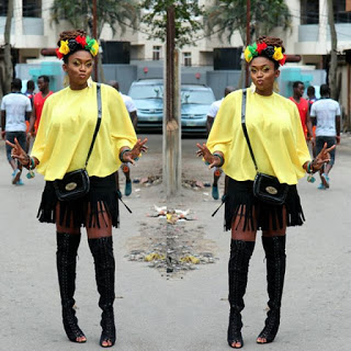 Check out Waje in this Lovely Outfit