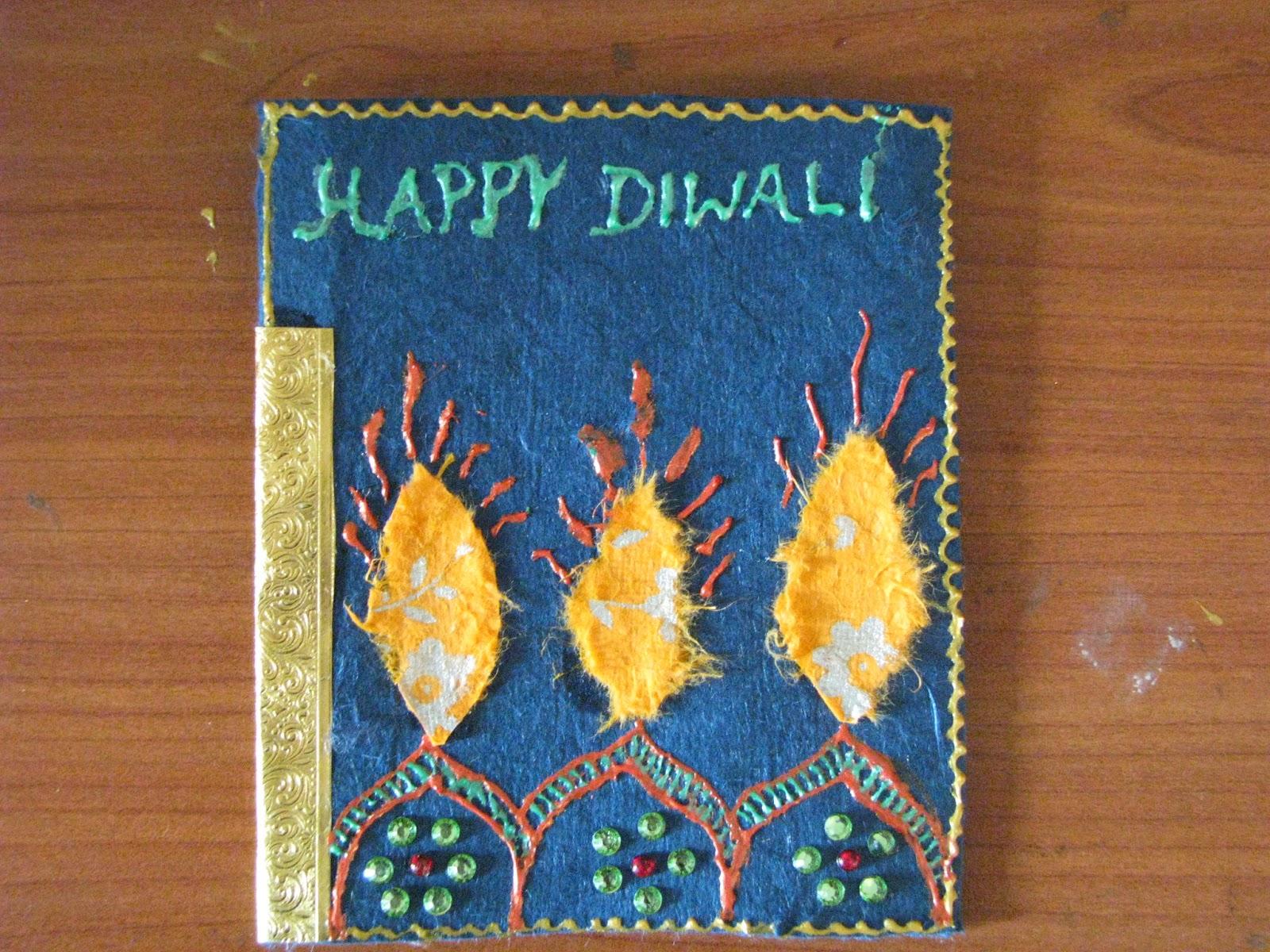 Handmade Diwali Greeting Cards Assorted Payal Mithal