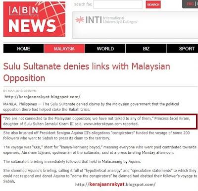 Tragedi Lahad Datu: Fitnah Najib, Mahathir Terbongkar. Kesultanan Sulu nafi Anwar terlibat