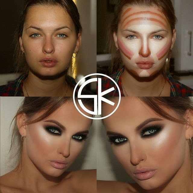 Как косметикой увеличить глаза
