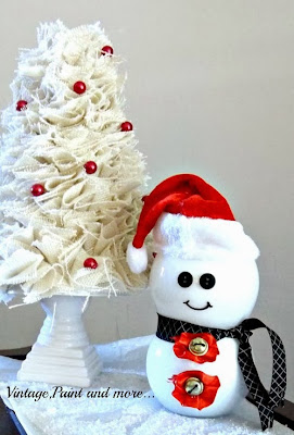 Vintage, Paint and more... budget friendly snowman craft