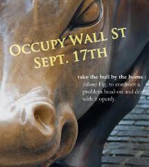 Cartel de la protesta en Nueva York.