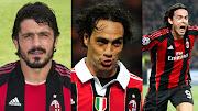 En la última jornada del Scudetto, la afición del Milán despidió . (gattuso nesta inzaghi)