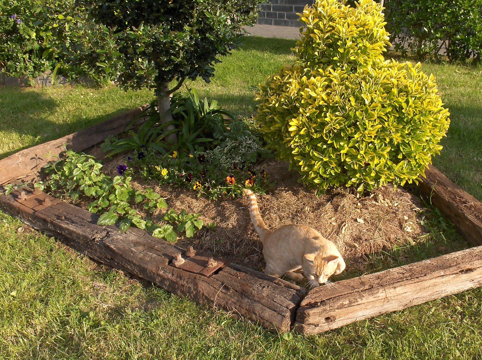 Aprendiz con restos de traviesas de tren - Traviesas de tren para jardin ...