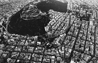 Vista aérea del centro de Atenas