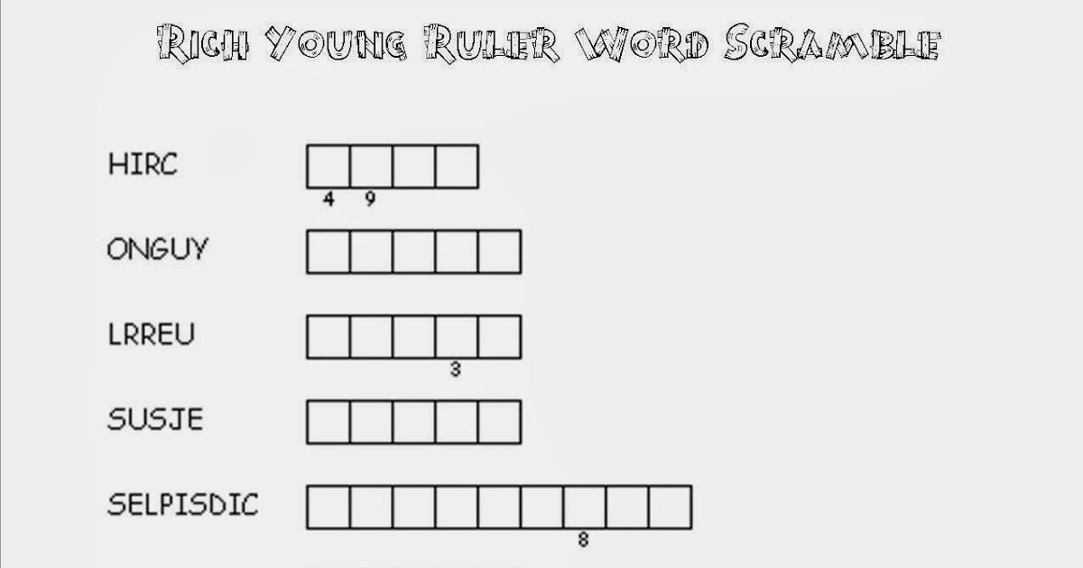 Rich Young Ruler Sunday School