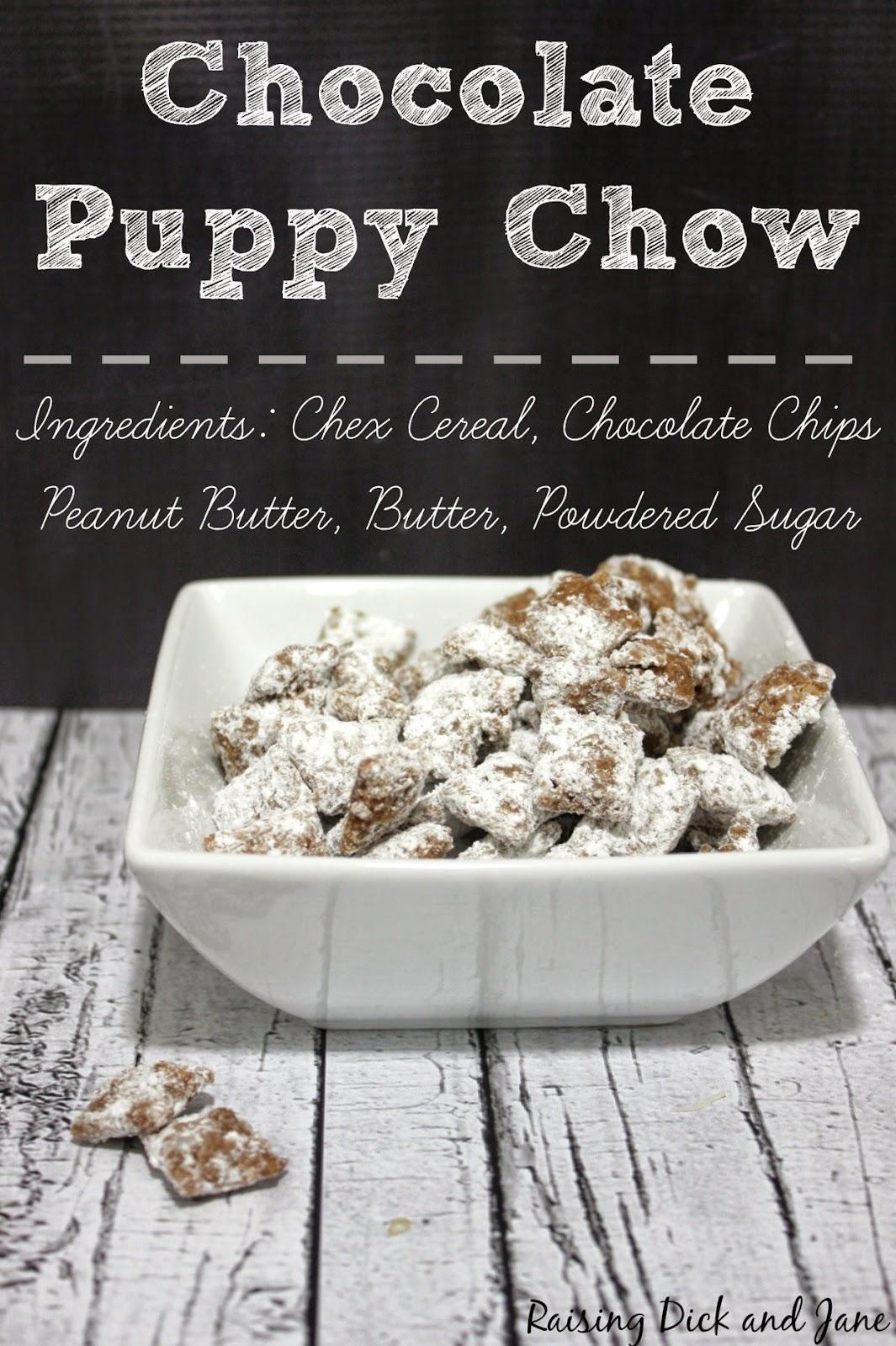 Chocolate Puppy Chow Recipe