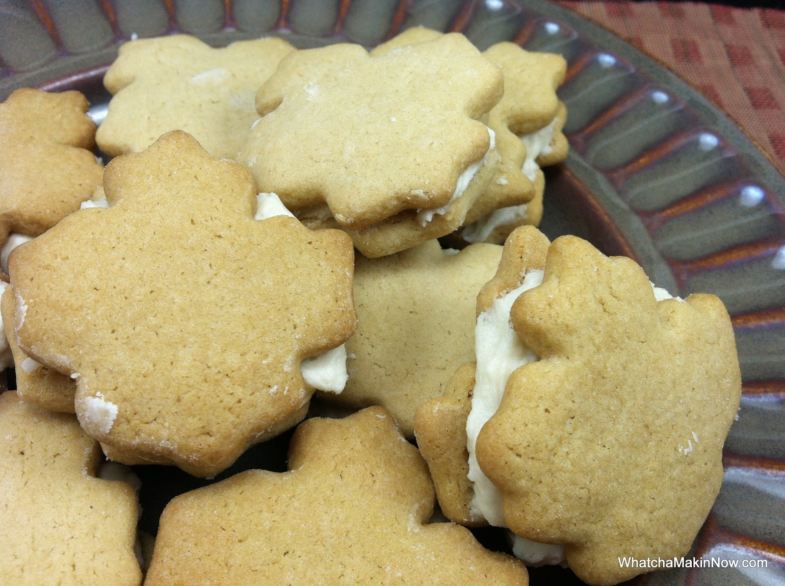Whatcha Makin' Now?: Maple Cookies with Maple Frosting