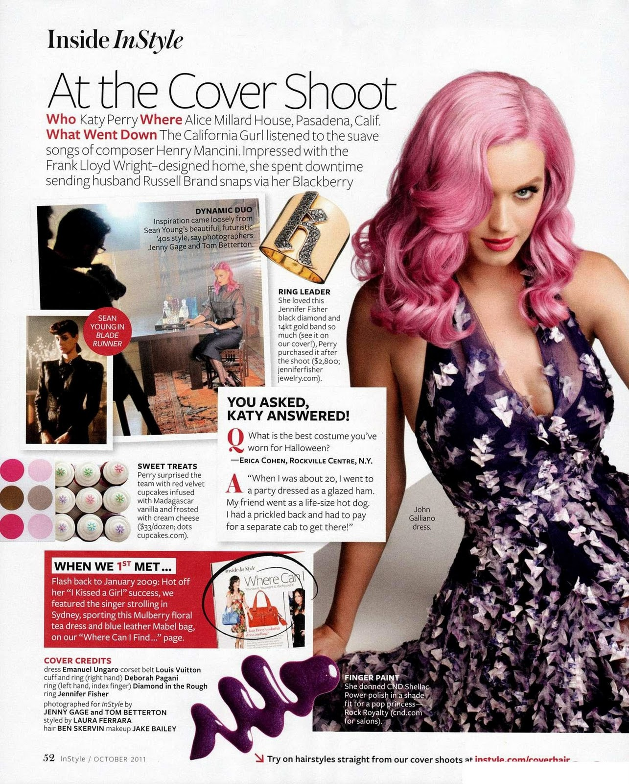 Katy Perry for InStyle US October 2011 - Photoshoot by Jenny Gage