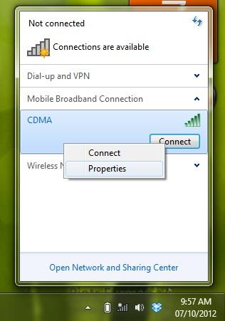 koneksi di windows 7