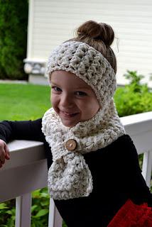 Cross My Heart Scarf & Headband crochet pattern from Sweet Potato 3 Patterns