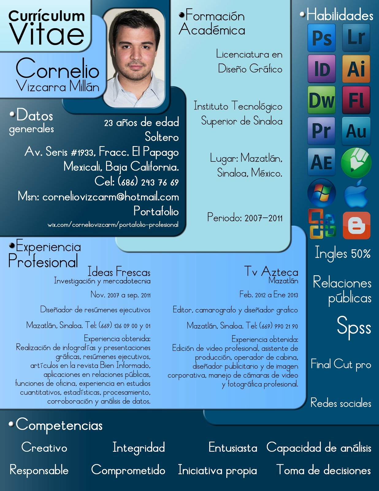 Curriculum Vitae: Curriculum Vitae Diseñador Grafico
