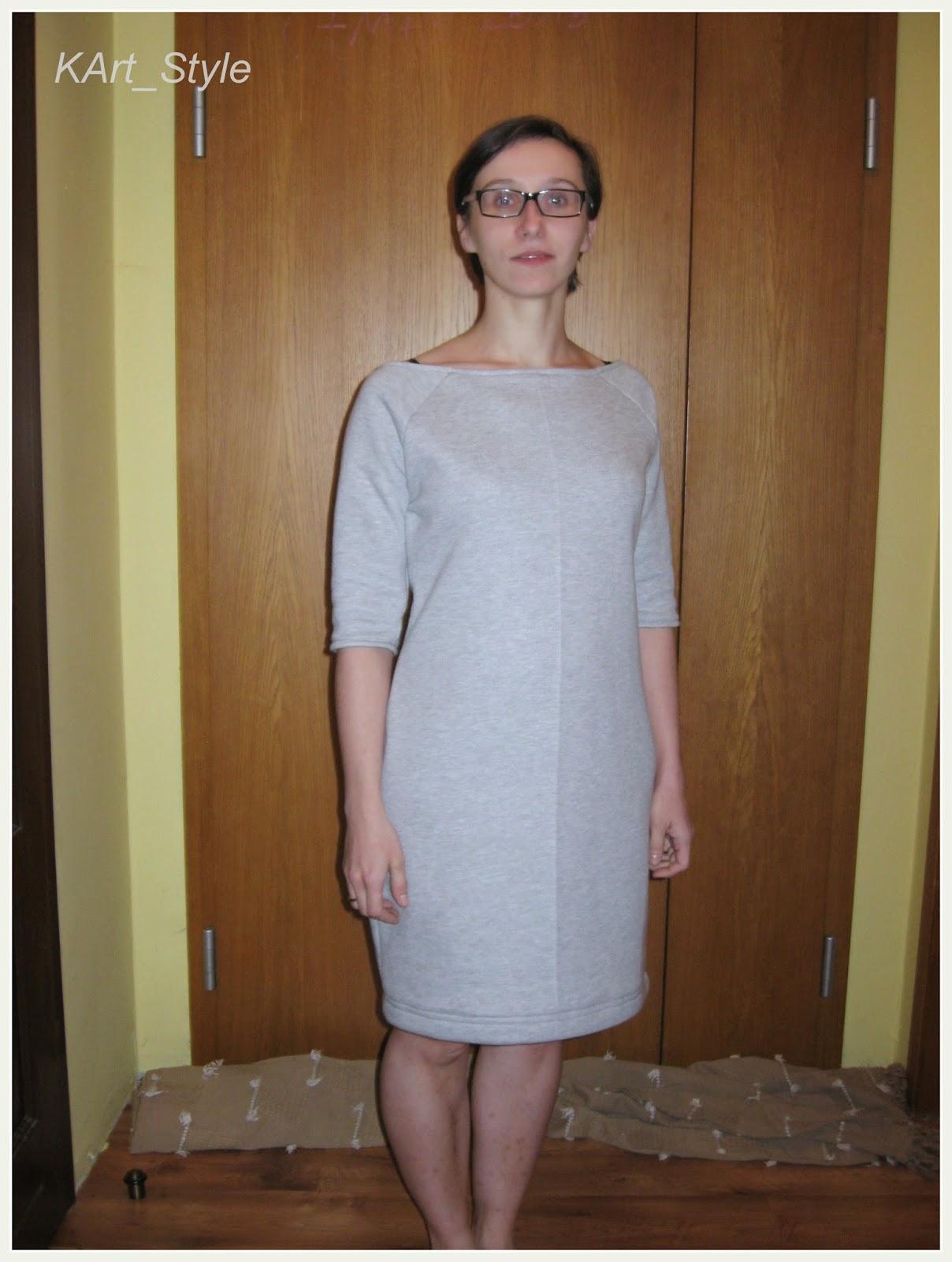 szary dres sukienka