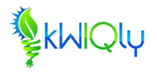 logo - kW - kiloWatts, IQ - intelligence , kWIQly