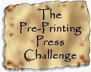 Pre-Printing Press Challenge 2015